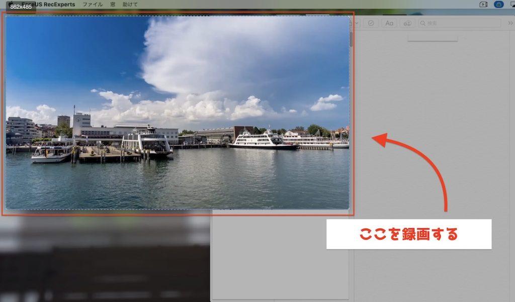 EaseUSRecExpertsforMac 画面の一部分を録画する